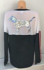 Victoria's Secret VS PINK Bling Large Logo Sweatshirt Size M BNIB