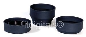 62mm Universal Rubber Lens Hood Normal Tele Wide Zoom 62 mm Asian Screw-in