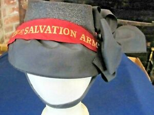 Vintage Straw Woman's SALVATION ARMY BONNET