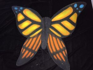 girls womens ONE SIZE MONARCH BUTTERFLY WINGS HALLOWEEN COSTUME COLORFUL nice