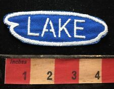 Skier / Boater / Fisher / Camper Patch ~ Simply Says: LAKE 69Y4
