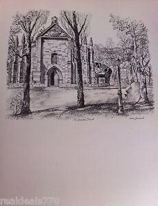 Vintage Original Cedric Emanuel Print 1970- The Garrison Church, Sydney