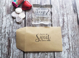 Love is Sweet Wedding Favour, Favour bags, Favour treats, Stamp, Wedding favour