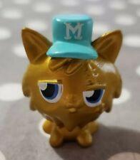 MOSHI MONSTERS SERIES 1 GOLD GINGERSNAP MOSHLING BLUE HAT #3 GINGER SNAP