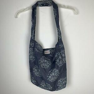 Bebe Au Lait Take A Long Light Cotton Shoulder Tote Bag Gray Green Shoulder bag