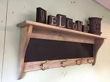 Weathered Primtive Pine Message Center Coat Rack