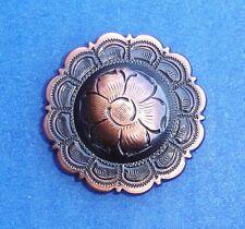 "Western Equestrian Tack (6) Black Copper Flower 3/4"" Conchos"