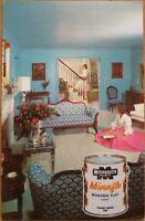 1960 Chrome AD Postcard: Minnesota House Paint-Interior