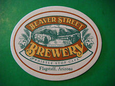 Beer Bar Coaster: BEAVER STREET & Whistle Stop Cafe ~ Flagstaff, ARIZONA Brewery