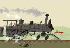 Charley/Charles Harper - Bye Bye Steamer - #19/ 300 Ltd Ed. - COA - Train & Car