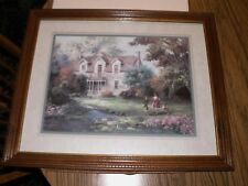 """Home Interiors Picture by Lee Parkinson Children & Dog Play 22.5"""" x 18.5"""" Homco"""