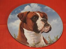 DANBURY MINT BOXERS HIS MASTER'S CALL DOG COLLECTOR PLATE SIMON MENDEZ EXCELLENT