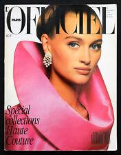 L'OFFICIEL Paris No.742 Haute Couture September 1988 Fur Pelze Pellicce Fourrure