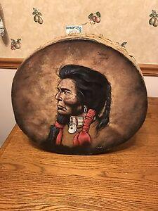 """Hand Made Tarahumara Indian Tribe 16"""" Ceremonial Drum"""