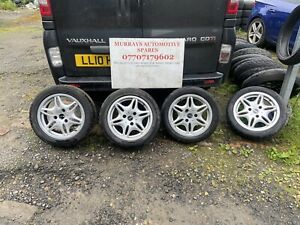 Smart Car Fortwo 450 MK1 COMPLETE SET OF 4 ALLOY WHEELS