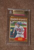 🔥2011 MIKE TROUT RC Topps Heritage Minors #239 SP BGS 9.5 Gem Mint Rookie Card