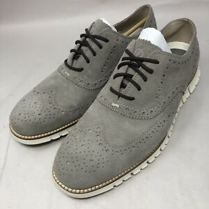 NEW Cole Haan ZeroGrand Wingtip Leather Oxford Suede Shoes C31163 Mens Sz 10 M