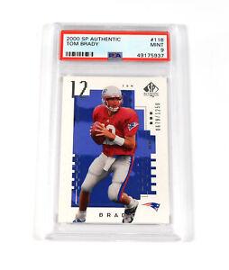 2000 SP Authentic Tom Brady Rookie /1250 #118 PSA 9