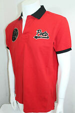 Polo Ralph Lauren Custom-Fit Big Football Polo Shirt Red,Black Sz XSmall NWT