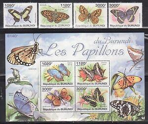 Burundi 887-91 Butterflies Mint NH