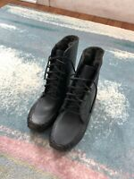 NEW Tom Ford Fur Lined Shoes Boots Black SZ 9 Men $1,990