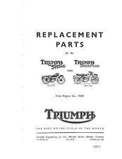 Triumph Parts Manual Book 1957 Terrier & 1957 Tiger Cub