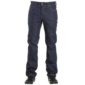"Brixton ""Reserve 5 Pocket"" Denim Pant (Raw Indigo) Men's Straight Leg Bottoms"