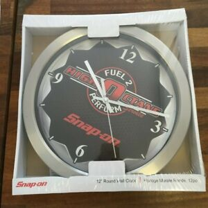"""Snap-On Tools Choko 12"""" Round Wall Clock Fuel 2 Perform High Octane Brand New"""
