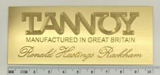 Custom Engraved Brass Tannoy RHR Speaker Badge Logo Emblem Pair