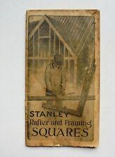 STANLEY RAFTER AND FRAMING SQUARES VINTAGE BROCHURE BOOKLET STANLEY TOOLS 1941