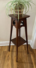More details for vintage arts and crafts torchere plant stand jardiniere