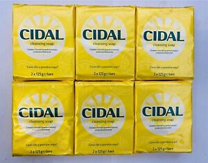12 x 125g CIDAL NATURAL ANTIBACTERIAL SOAP - 6 Twin Pack