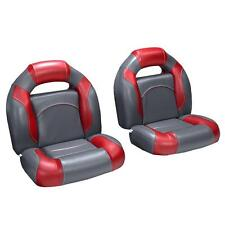 4 Piece Bass Boat Seats Charcoal and Red