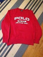 Polo Jeans Co Sweatshirt Vtg 90s Ralph Lauren Spell Out Fleece Mens Size Large