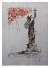 Salvador Dali- Statue of Liberty 64-3 (B) Original Engravings COA New York City