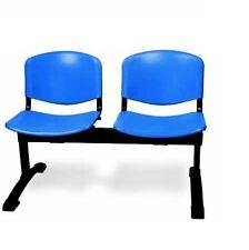 Panca per ufficio 2 posti per sala attesa seduta plastica