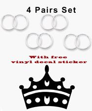 4 Pairs Set Super Small Mini Hoop Earrings Sterling Silver 925 USA Seller 08mm
