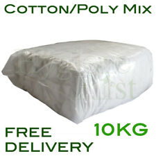 10Kg White Cotton/Poly Mix Wiper Industrial Engineers Garage Rags Wipers