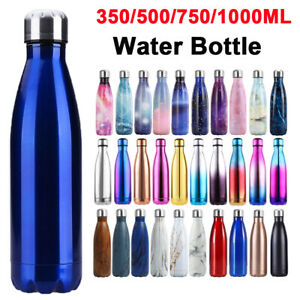 Stainless Steel Vacuum Water Bottle Double Wall Insulated Sports Drink Cup Flask