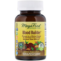 MegaFood Blood Builder 30 Tablets Dairy-Free, Kosher, Non-GMO, NSF Certified,