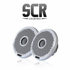 "Fusion Ms-fr6021 Marine 6"" 2-way 200w Speakers Boat Audio Black & White Grilles"