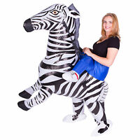 Adult Funny Inflatable Animal Zebra Fancy Dress Costume Outfit Halloween Stag