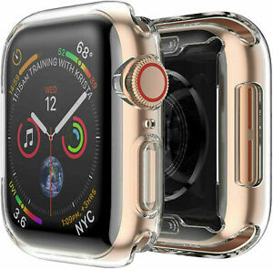 For Apple Watch Series 4 44mm/40mm FULL SCREEN Clear Soft Protector Cover TPU