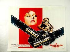 """Sunset Boulevard"" A Hollywood Story Paramount Lobby Card Poster 1950"