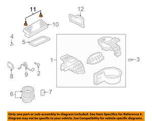 FORD OEM Blower Motor Fan-Housing Nut W520412S437