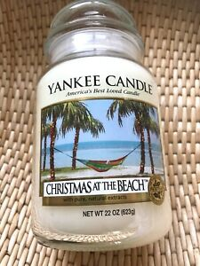 Yankee Candle rare htf Christmas on the Beach large jar