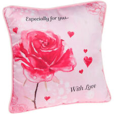 Pink Rose Sentiment Cushion ' Especially for you...With Love ' Gift SALE