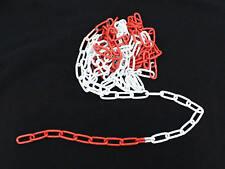 Absperrkette Rot-Weiß Metallkette Warnkette 38x22mm rotweiss