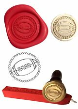 Wax Stamp, RUGBY Ball Sport Design and Red Wax Stick XWSC064-KIT
