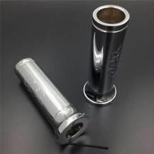 """7/8"""" Handlebar Grips Chrome Billet fit For Honda CBR 600RR 900RR 929 954 1000 RR"""